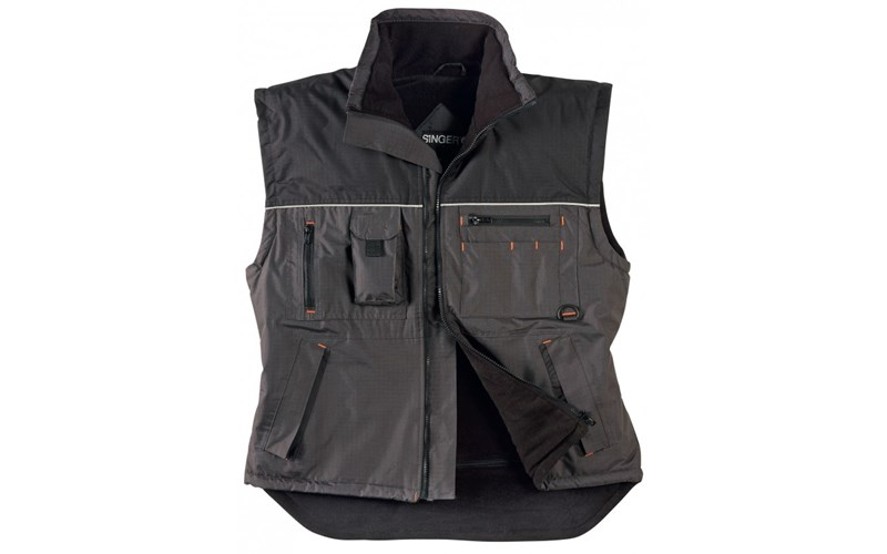 Body Warmer GASPAR, gris/noir