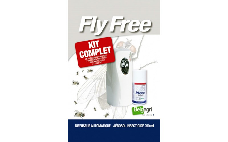 MUSCAMATIC 'KIT FLY FREE' (Aircontroler+Aerosol+2 Batterien)